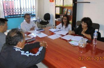 Funcionarios del Gobierno Regional, OEFA, MINAM y Defensoría del Pueblo de Moquegua se reunen para tratar la denuncia de la Posible contaminación del Río Coralaque